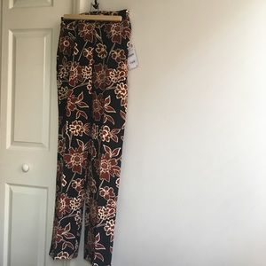 Floral work trouser